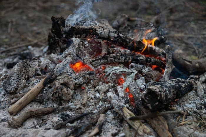 camp fire ashes